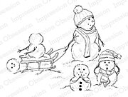 A Bump in the Snow - Cling Rubber Stamp