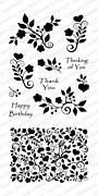 Floral Heart Background - Clear Stamp