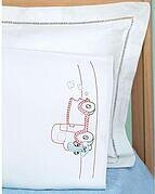 Old Truck Friend Childrens Pillowcase - Embroidery Kit