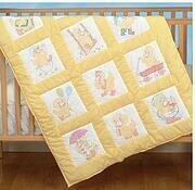 Baby Ducks Nursery Quilt Squares - Embroidery Kit