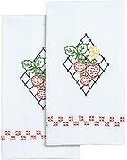 Strawberries Decorative Hand Towels - Embroidery Kit