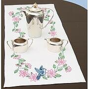 Birds Table Runner/Scarf - Stamped Cross Stitch Kit