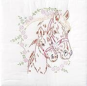 "Mare & Colt Silhouette 18"" Quilt Squares Embroidery Kit"