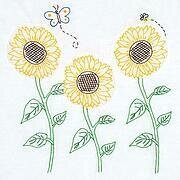 "Sunflowers 18"" Quilt Blocks - Embroidery Kit"