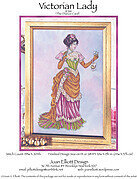 Victorian Lady - The Dance Card - Cross Stitch Pattern