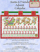Santa & Friends Advent Calendar - Cross Stitch Pattern
