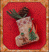Gingerbread Elf Mouse Stocking - Cross Stitch Pattern