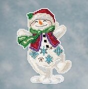 Snowman Dancing - Jim Shore Beaded Cross Stitch Kit