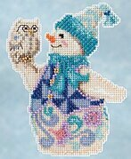 Snowy Owl Snowman - Jim Shore Beaded Cross Stitch Kit