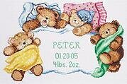 Down For A Nap Birth Announcement - Cross Stitch Kit