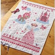 Fairytale Princess Crib Cover - Stamped Cross Stitch Kit