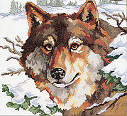 Winter Wolf - Cross Stitch Pattern
