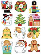 Christmas Charmers Ornaments - Cross Stitch Pattern