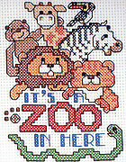 It's a Zoo in Here - Cross Stitch Pattern