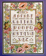 Alphabet Floral Sampler - Cross Stitch Pattern