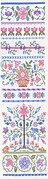 Floral Band Sampler - Cross Stitch Pattern