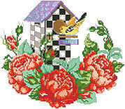 Roseland Birdhouse - Cross Stitch Pattern
