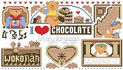 Chocolate in Any Language - Cross Stitch Pattern