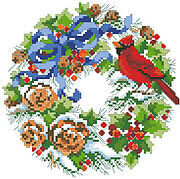 Wreath For Winter, A - Cross Stitch Pattern