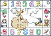 Birth Announcement Big Stitch - Cross Stitch Pattern