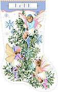 Fairies Christmas Stocking - Cross Stitch Pattern