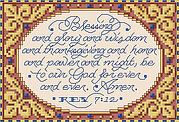 Revelation 7:12 - Christian Cross Stitch Pattern