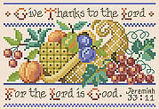 Jeremiah 33:11 - Christian Cross Stitch Pattern