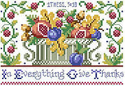 1 Thessalonians 5:18 - Christian Cross Stitch Pattern