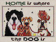 Home Is Where The Dog Is - Cross Stitch Pattern