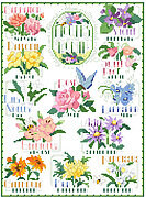 Flowers of the Month - Cross Stitch Pattern