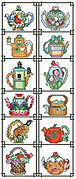 Teapot of the Month Sampler - Cross Stitch Pattern