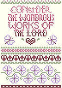 Consider the Wondrous Works - Christian Cross Stitch Pattern
