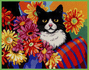 Hiding In The Flowers - Cross Stitch Pattern