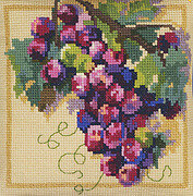 Grapes On The Vine Big Stitch - Cross Stitch Pattern