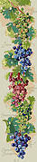 Grapes Bell Pull - Cross Stitch Pattern