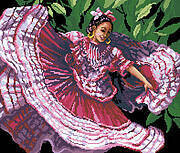 Spanish Dancer - Cross Stitch Pattern