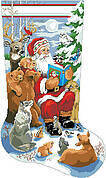 Woodland Storytime Christmas Stocking - Cross Stitch Pattern