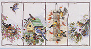Four Seasons Birds - Cross Stitch Pattern