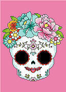 Sugar Skull Pink - Cross Stitch Pattern