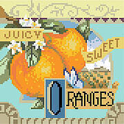 Sweet Oranges - Cross Stitch Pattern
