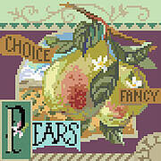 Choice Fancy Pears - Cross Stitch Pattern