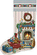 Home For Christmas Heirloom Stocking - Cross Stitch Pattern