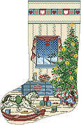 North Woods Christmas Stocking - Cross Stitch Pattern