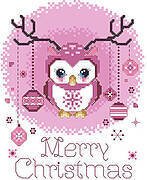 Merry Christmas Owl - Cross Stitch Pattern