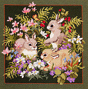 Bunny Nest - Cross Stitch Pattern