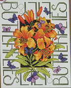 Butterflies and Lilies - Cross Stitch Pattern