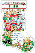 Two By Two Christmas Stocking - Cross Stitch Pattern
