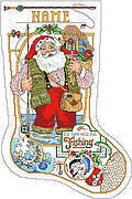 I'd Rather Be Fishing Christmas Stocking - Cross Stitch