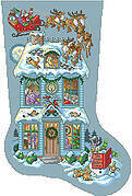Twas the Night Before Christmas Stocking - Cross Stitch