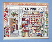 Village Antique Shop - Cross Stitch Pattern